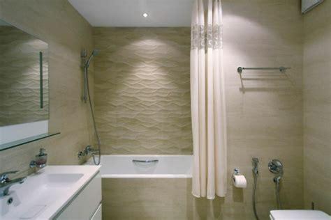 sand color bathroom modern apartment with minimalistischem interior design in