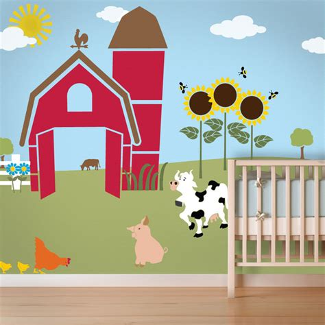 wall mural templates friendly farm wall mural stencil kit for painting