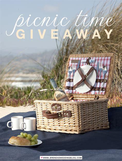 Picnic Basket Giveaway - it s wedding season picnic time celebrate with a picnic basket blanket