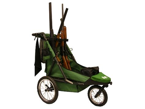 rugged gear cart rugged gear standard four gun shooting cart swivel front wheel green