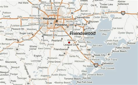 friendswood texas map friendswood location guide