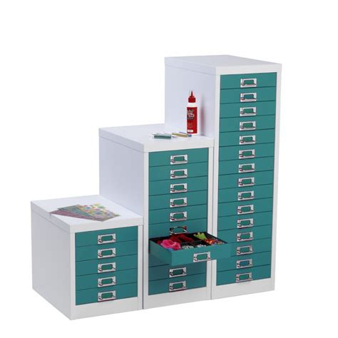Silverline Multi Drawer Cabinets by Teal White Multi Drawer Cabinet 5 Drawer