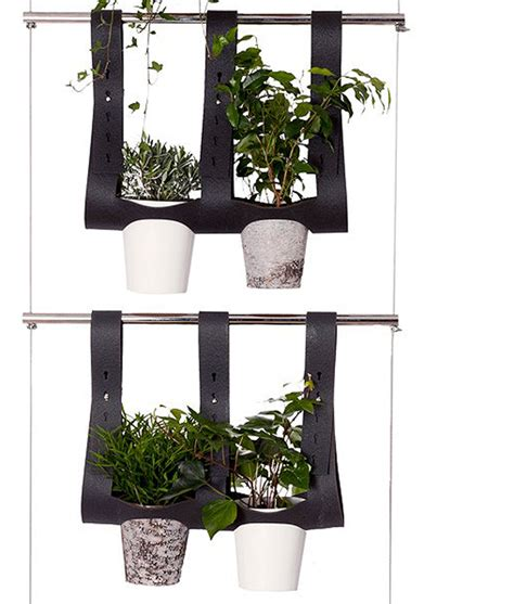 vertical balcony friendly hanging planter system