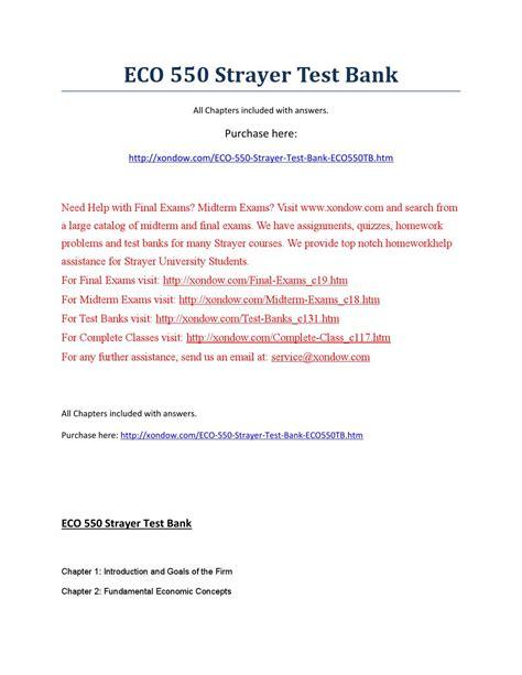 test banken eco 550 strayer test bank by alenalove issuu