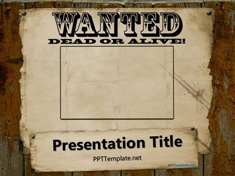 wanted poster template powerpoint free wanted poster template for powerpoint