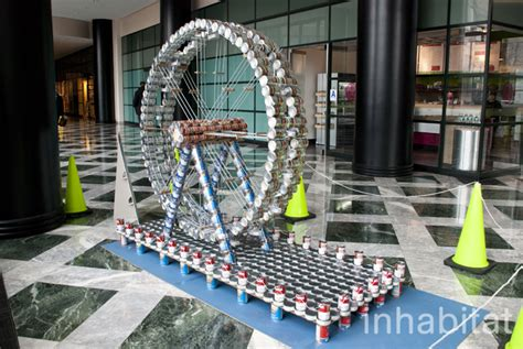 canstruction design plans 13 awesome sculptures made from food cans at canstruction