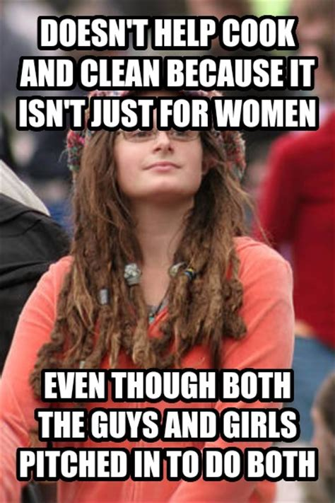 College Girl Meme - livememe com college liberal