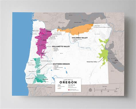 oregon map usa updated wine maps of the world wine folly