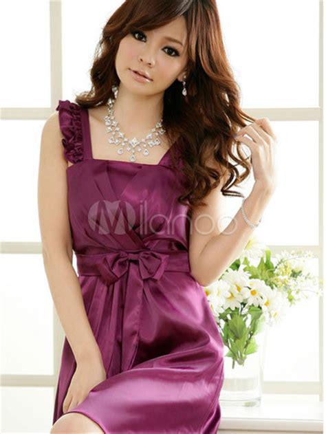 10 varieties of ladiess dance that are nice for fitness graceful purple satin beautiful ladies dress milanoo com