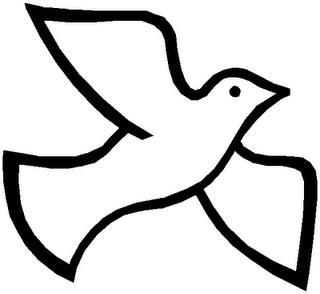 Holy Spirit Dove Outline by Holy Spirit Dove Clip