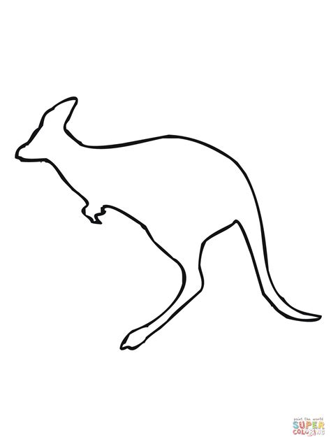 Aboriginal Australian Animal Outlines by Leaping Kangaroo Outline Coloring Page Supercoloring Cake Decorating