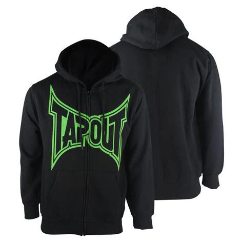 Hoodie Mma tapout classic zip up hoodie black green mma streetwear ebay