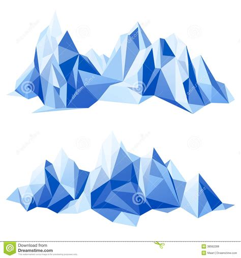 Origami Mountain - mountain range royalty free stock photos image 38562288