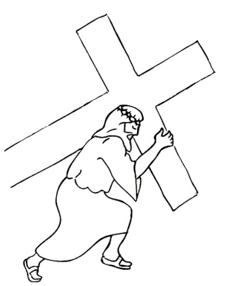 coloring pages of jesus carrying the cross stations of the cross coloring pages download coloring