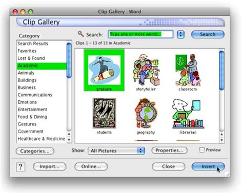 microsoft word clipart for mac how to add images to word for mac documents dummies