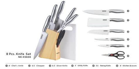 Jual Pisau Set Murah nakami pisau set stainless steel nk ks668 jual murah