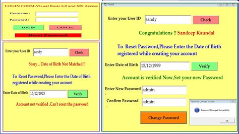 reset vba password access how to reset forgotten password by user verification in