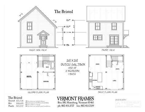 2 bedroom timber frame house plans bristol dutch saltbox vermont frames
