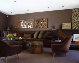 living room interior with brown modern rooms with chocolate brown walls interior design
