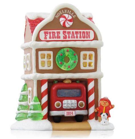 noelville fire station hallmark keepsake ornament hooked  hallmark ornaments