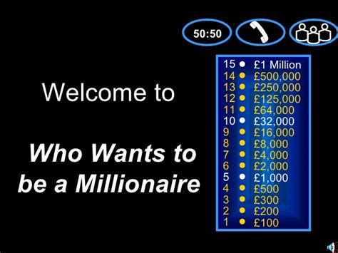 who wants to be a millionaire powerpoint template with sound who wants to be a millionaire the industry
