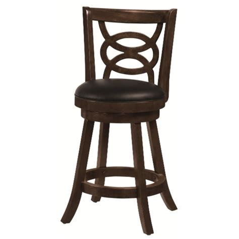 Upholstered Swivel Dining Chairs Coaster Dining Chairs And Bar Stools 24 Quot Swivel Bar Stool With Upholstered Seat Coaster