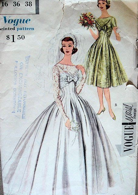 11 best images about 1950s Wedding Dress Patterns on