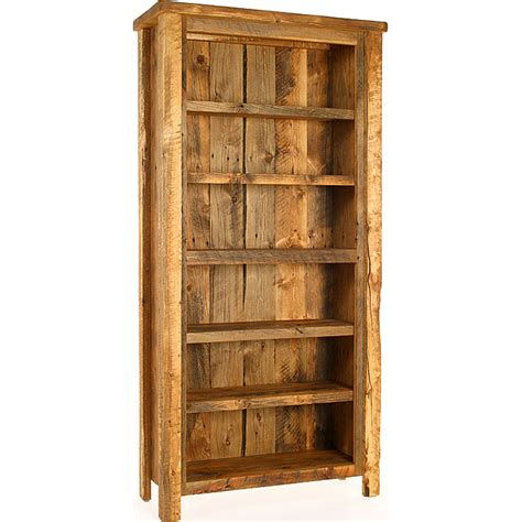 build bookcase plans rustic reclaimed wood bookcase