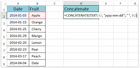 Excel 2007 Format Number In Concatenate | how to concatenate keeping number date formatting in excel