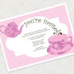 High Tea Invitation Template by Bridal Tea Invitations Template Best Template Collection