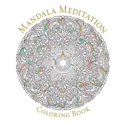 meditative mandala menagerie an advanced coloring book books mandala meditation coloring book self esteem shop