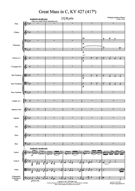 free brazilian music mass in c minor k 427 417a mozart wolfgang amadeus