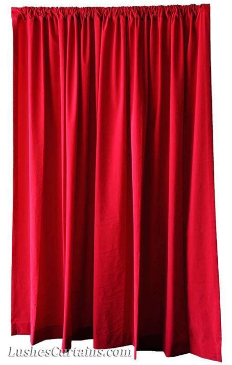 red velvet curtain panels shcool theater stage backdrop drapes cherry red velvet 12