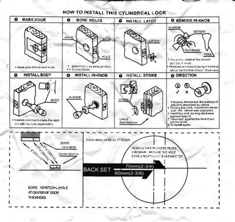Pasang Kunci Pintu Mobil cara pemasangan kunci pintu bundar kamar mandi