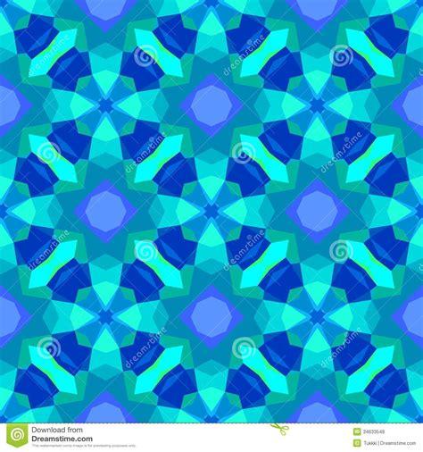 Mosaic Tile Designs Bathroom multicolor geometric pattern in bright blue stock vector