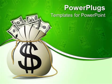 Powerpoint Template A Bag Full Of Money 20651 Money Powerpoint Template