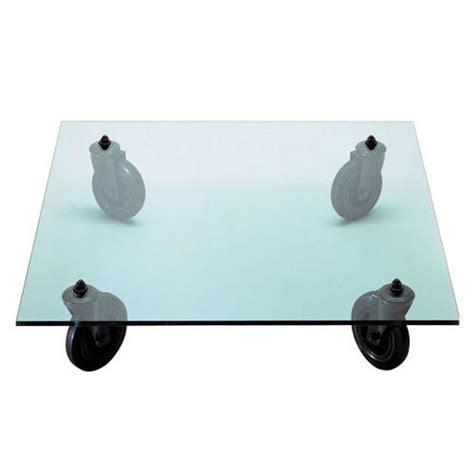 table a roues table basse fontana arte 110x110x25 cm