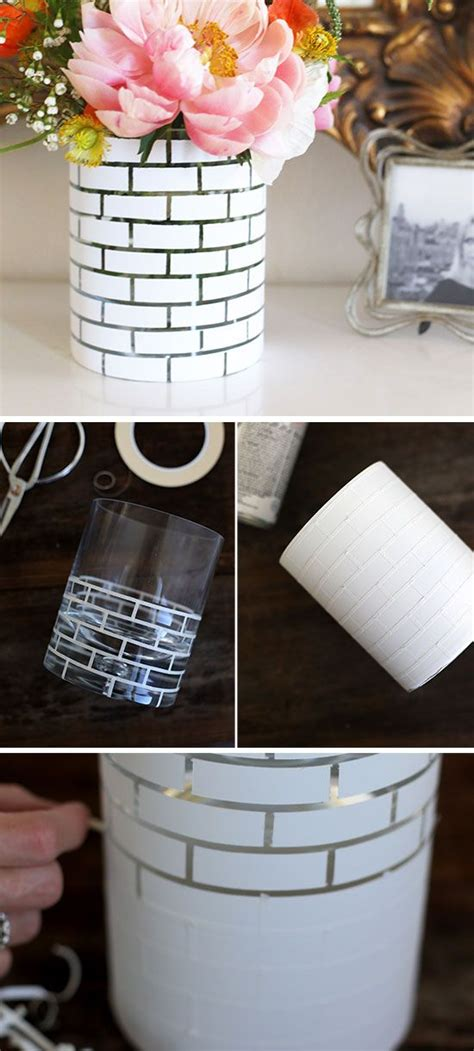 diy ideas home decor diy white brick vase diy home decor ideas on a budget