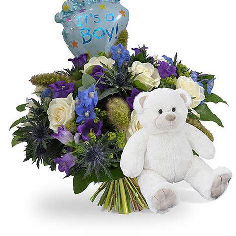 bloemen bezorgen enkhuizen geboorte jongen ballon witte beer 45cm bestellen en