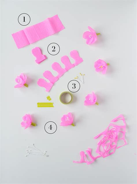 How To Make A Cherry Blossom Tree Out Of Paper - easy crepe paper cherry blossoms kootut murut