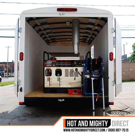 boat mechanic ta enclosed pressure washer trailer packages hot and mighty