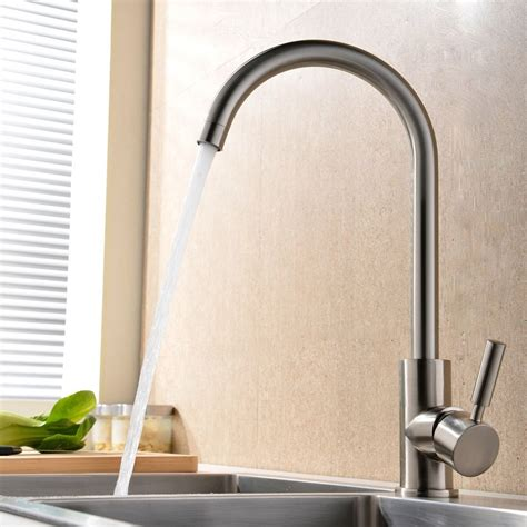 modern and cold mixer single handle brushed steel