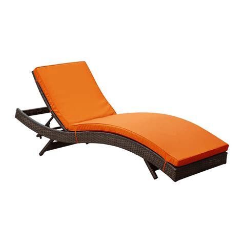 shop modway peer espresso rattan plastic stackable patio chaise lounge chair  lowescom