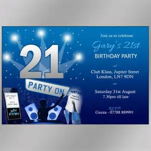 21st birthday party invites boys night out