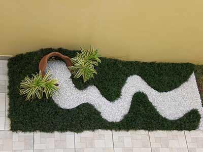 jardim decorado pedras e grama fotos de paisagismo pedras para jardim