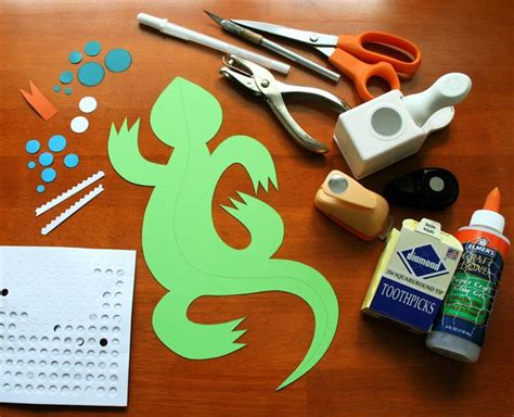 3d Crafts With Paper - 3d paper lizard craft c skip to my lou