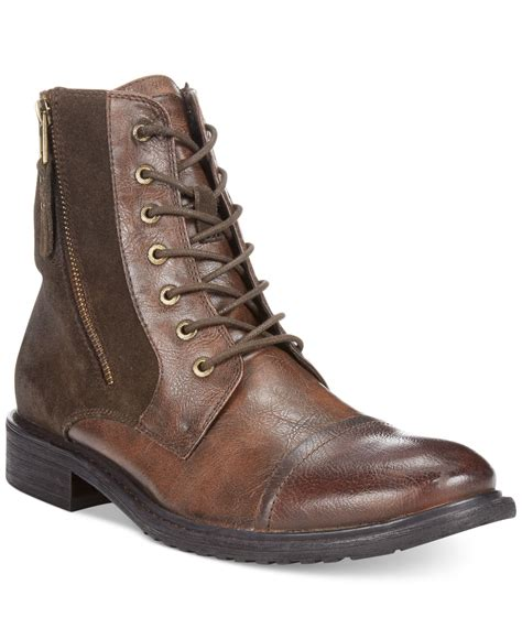 kenneth cole reaction hit boots in brown for lyst