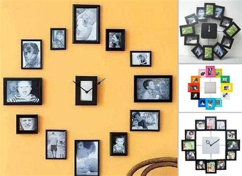 magazine layout wall diy wall clock from photos home design garden