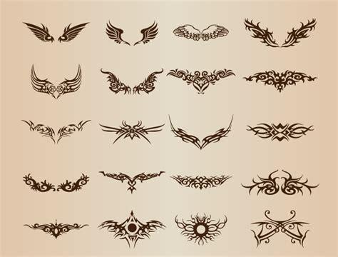20个纹身图案矢量素材 设计之家
