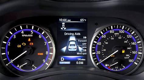 infiniti dashboard warning lights 2015 infiniti q50 hev warning and indicator lights